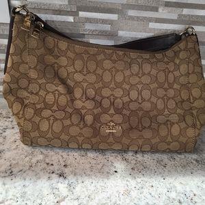 Signature coach purse